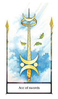 Ace of Wind Tarot Card - Old Path Tarot Deck