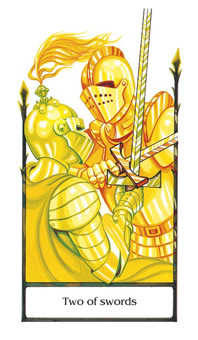 Two of Wind Tarot Card - Old Path Tarot Deck