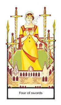 Four of Bats Tarot Card - Old Path Tarot Deck