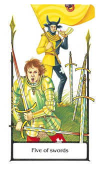 Five of Wind Tarot Card - Old Path Tarot Deck