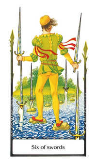Six of Arrows Tarot Card - Old Path Tarot Deck