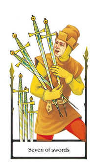 Seven of Arrows Tarot Card - Old Path Tarot Deck