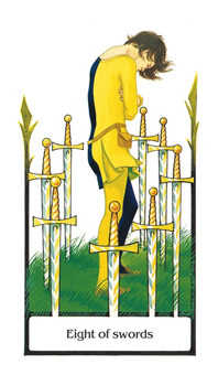 Eight of Spades Tarot Card - Old Path Tarot Deck