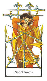 Nine of Arrows Tarot Card - Old Path Tarot Deck