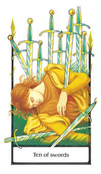 Ten of Arrows Tarot Card - Old Path Tarot Deck