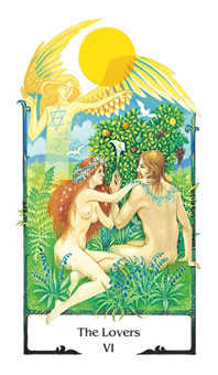 The Lovers Tarot Card - Old Path Tarot Deck