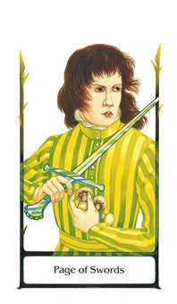 Page of Spades Tarot Card - Old Path Tarot Deck