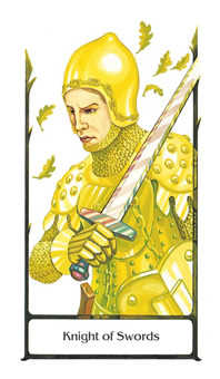 Cavalier of Swords Tarot Card - Old Path Tarot Deck