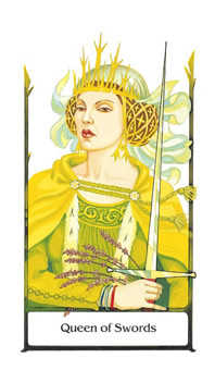 Queen of Swords Tarot Card - Old Path Tarot Deck