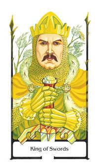 King of Swords Tarot Card - Old Path Tarot Deck