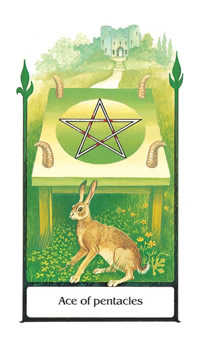 Ace of Pentacles Tarot Card - Old Path Tarot Deck