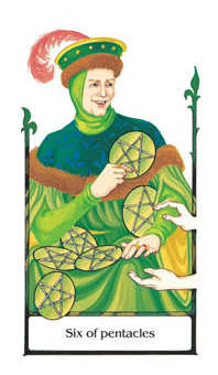 Six of Coins Tarot Card - Old Path Tarot Deck