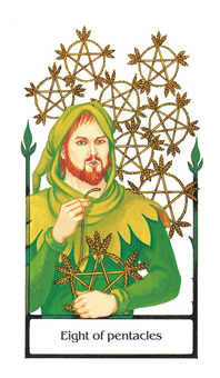 Eight of Pentacles Tarot Card - Old Path Tarot Deck