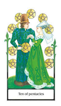 Ten of Rings Tarot Card - Old Path Tarot Deck