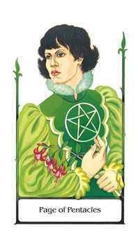 Daughter of Discs Tarot Card - Old Path Tarot Deck
