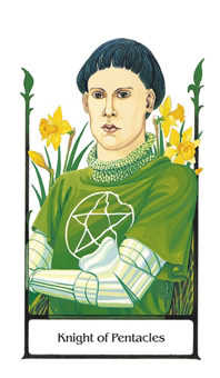 Knight of Coins Tarot Card - Old Path Tarot Deck