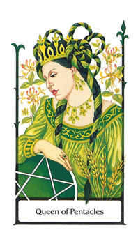 Queen of Coins Tarot Card - Old Path Tarot Deck
