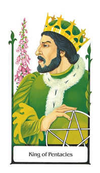 Roi of Coins Tarot Card - Old Path Tarot Deck