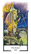 The Tower Tarot card in Old Path deck