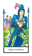 Eight of Cauldrons Tarot card in Old Path deck