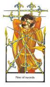 Nine of Swords Tarot card in Old Path deck