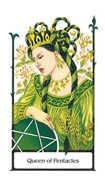 Queen of Pentacles Tarot card in Old Path Tarot deck