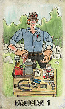 The Magician Tarot Card - Omegaland Tarot Deck