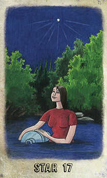The Star Tarot Card - Omegaland Tarot Deck