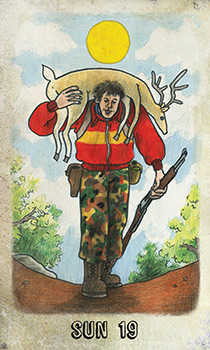The Sun Tarot Card - Omegaland Tarot Deck