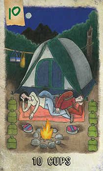 Ten of Cauldrons Tarot Card - Omegaland Tarot Deck