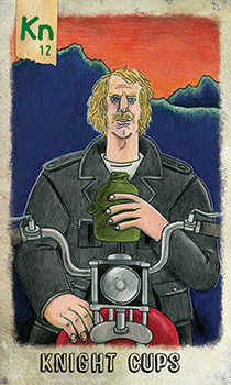 Knight of Cauldrons Tarot Card - Omegaland Tarot Deck