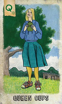 Queen of Cups Tarot Card - Omegaland Tarot Deck