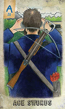 Ace of Wind Tarot Card - Omegaland Tarot Deck