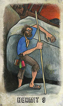 The Hermit Tarot Card - Omegaland Tarot Deck