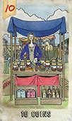 Ten of Coins Tarot card in Omegaland Tarot deck