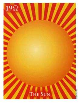The Sun Tarot Card - One World Tarot Deck