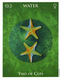 Two of Hearts Tarot Card - One World Tarot Deck