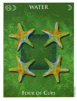 Four of Water Tarot Card - One World Tarot Deck