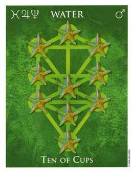 Ten of Hearts Tarot Card - One World Tarot Deck