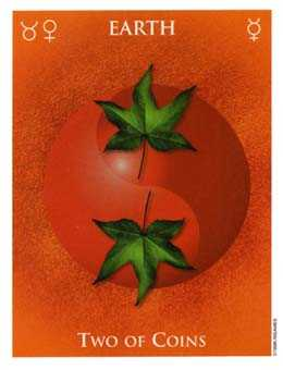 Two of Pumpkins Tarot Card - One World Tarot Deck