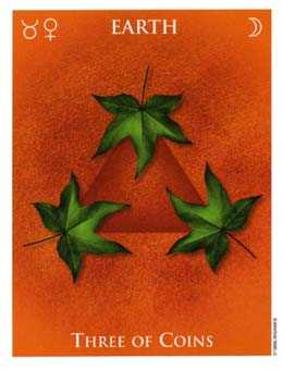 Three of Pumpkins Tarot Card - One World Tarot Deck