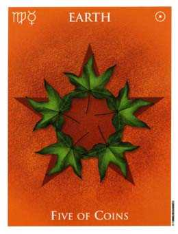 Five of Diamonds Tarot Card - One World Tarot Deck