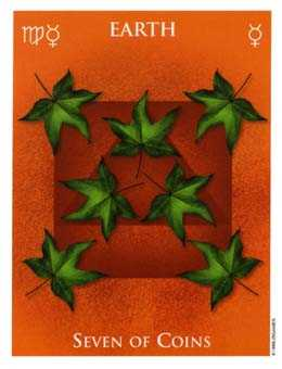 Seven of Discs Tarot Card - One World Tarot Deck