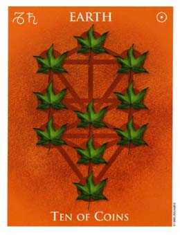 Ten of Pumpkins Tarot Card - One World Tarot Deck