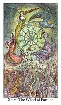 The Wheel of Fortune Tarot Card - Paulina Tarot Deck