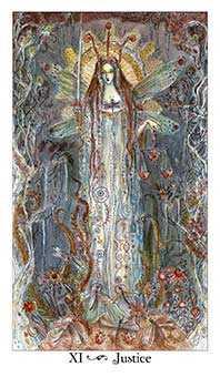 Justice Tarot Card - Paulina Tarot Deck