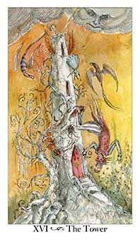 The Falling Tower Tarot Card - Paulina Tarot Deck