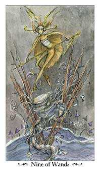Nine of Rods Tarot Card - Paulina Tarot Deck