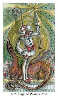 Page of Staves Tarot Card - Paulina Tarot Deck
