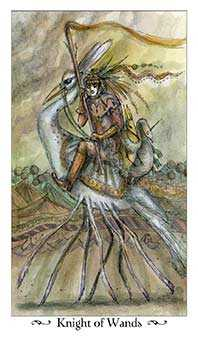 Knight of Batons Tarot Card - Paulina Tarot Deck